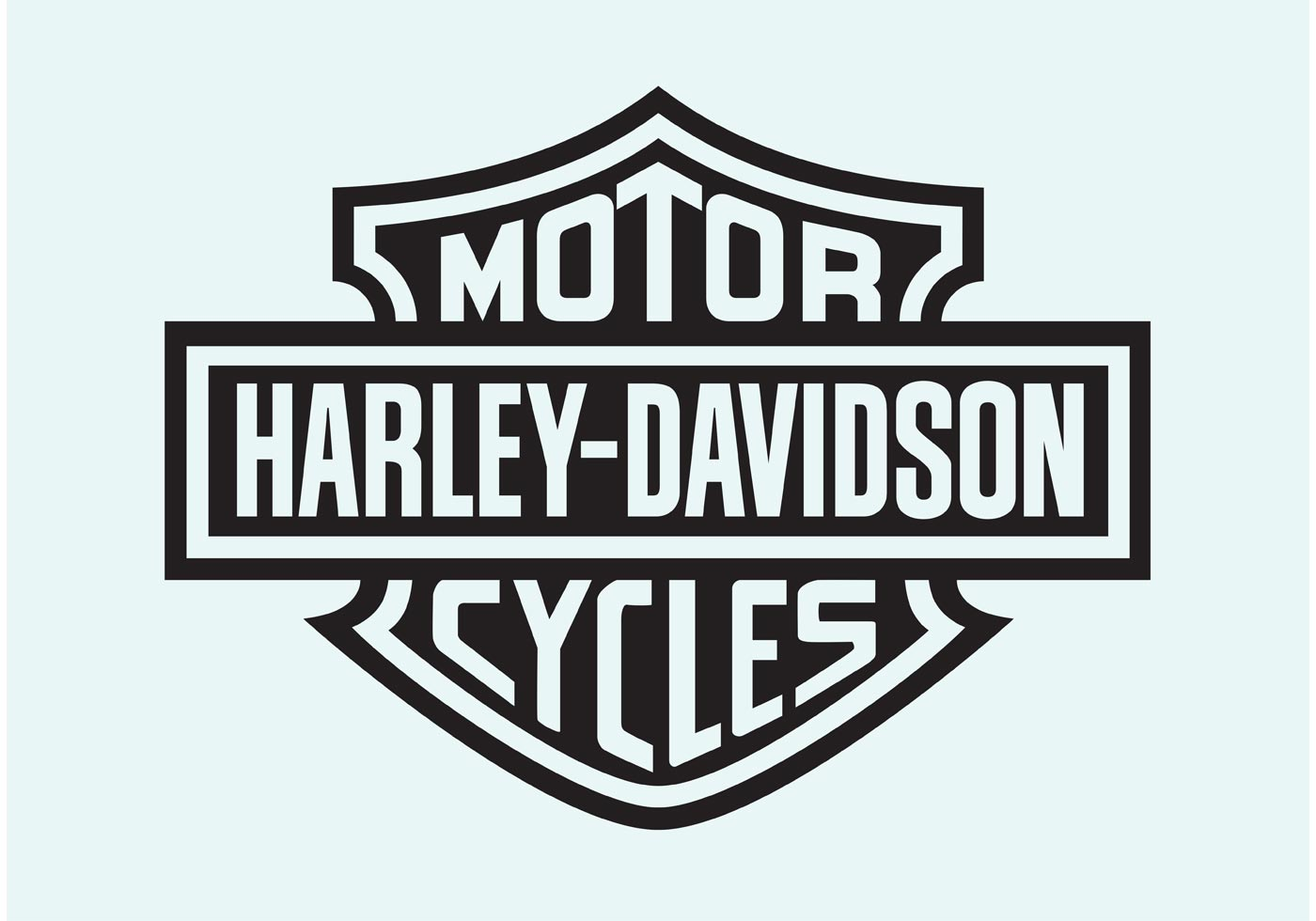 Harley Davidson Motorcycle Free Vector Art.