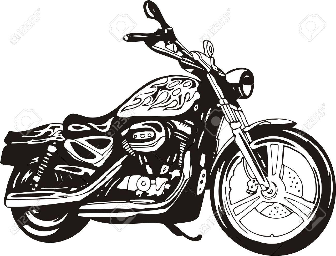 Harley davidson motorcycles clipart.
