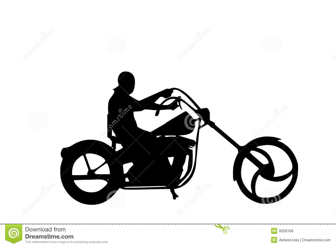 Isolated Chopper Biker Vector Royalty Free Stock Image.