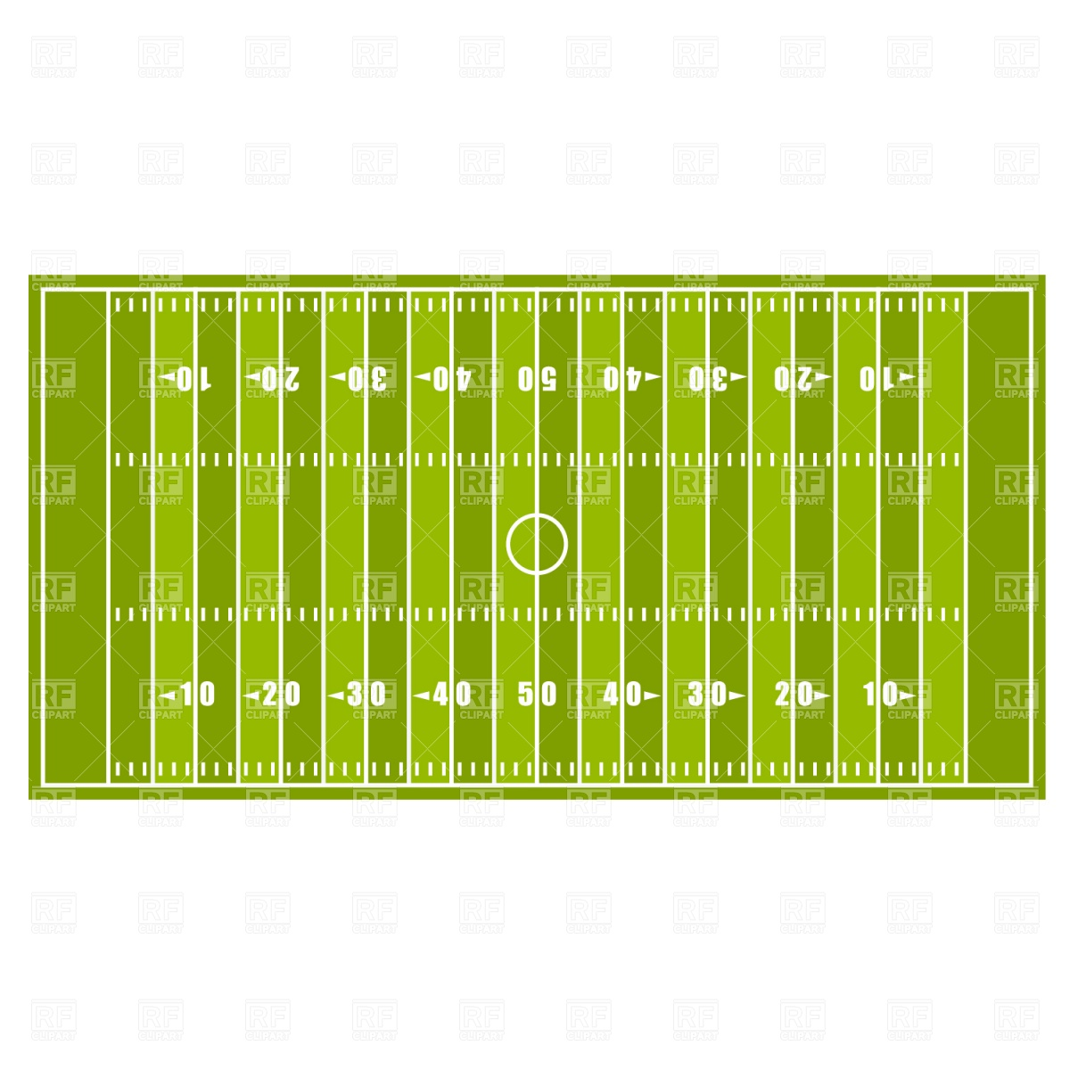 American football field Vector Image #1279.