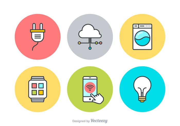 Internet Of Things Vector Icons.