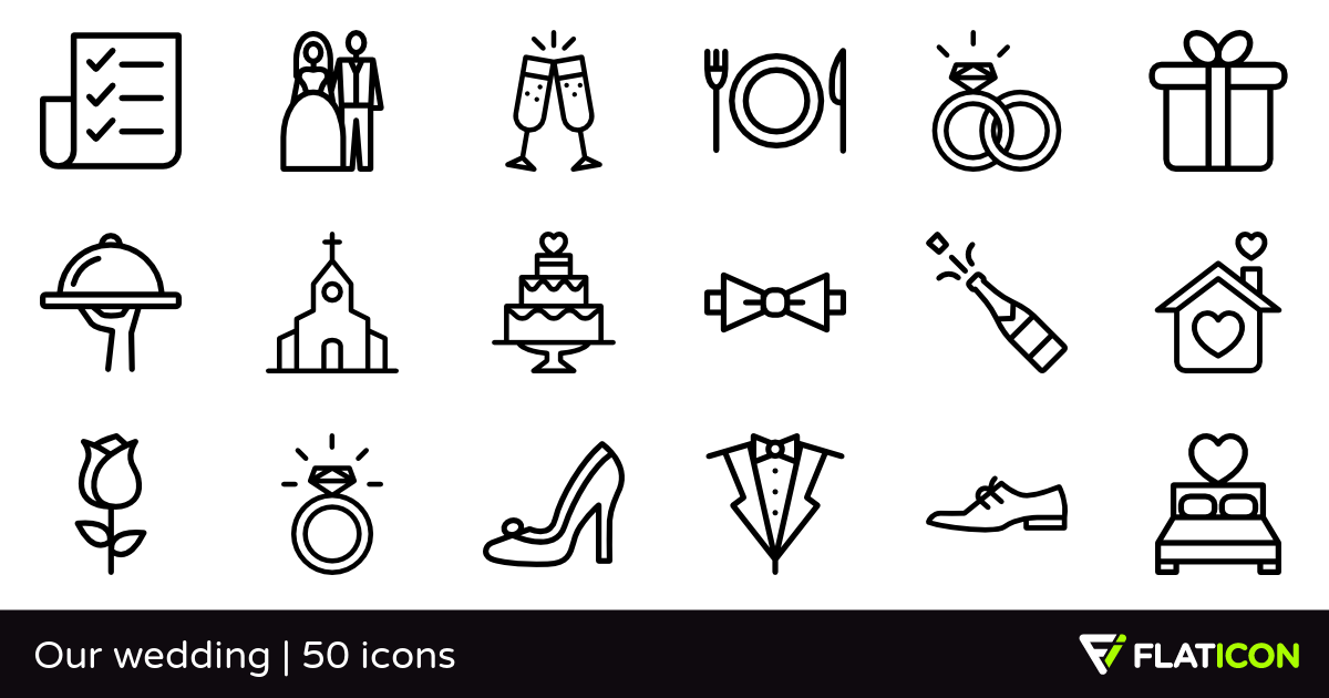 50 free vector icons of Our wedding designed by Freepik in.