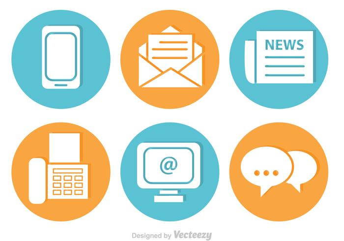 Contact Vector Icons Set.