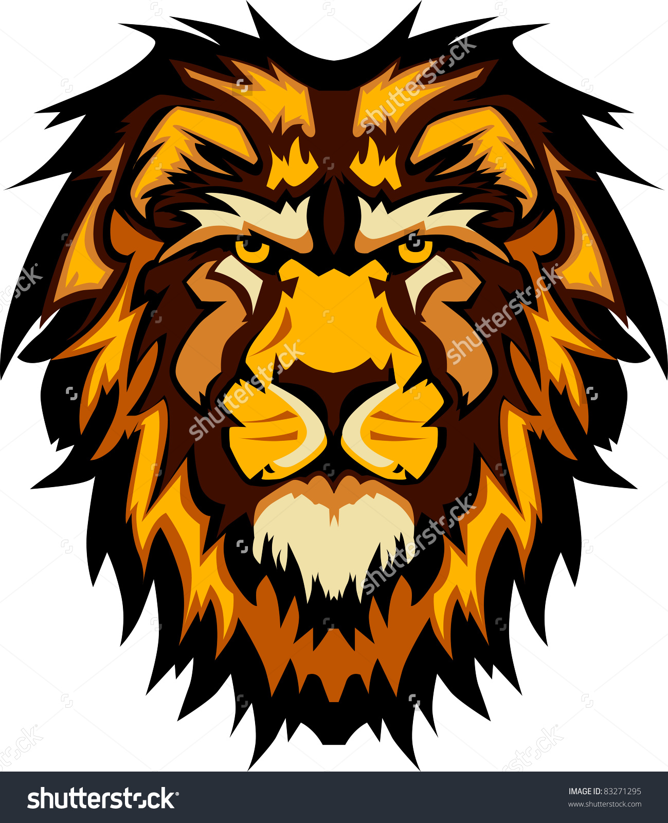 Lion Head Graphic Mascot Logo Stock Vector 83271295.
