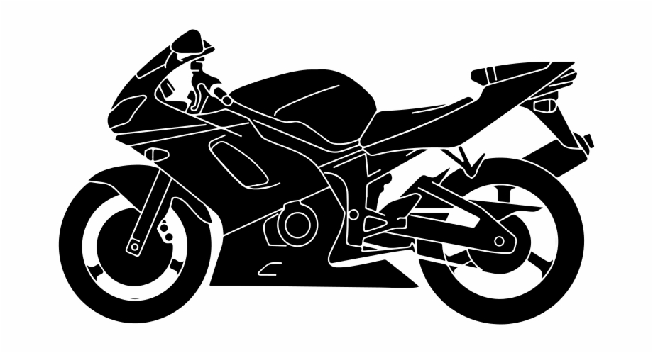 Free Clipart Motorcycle Silhouette Vector.