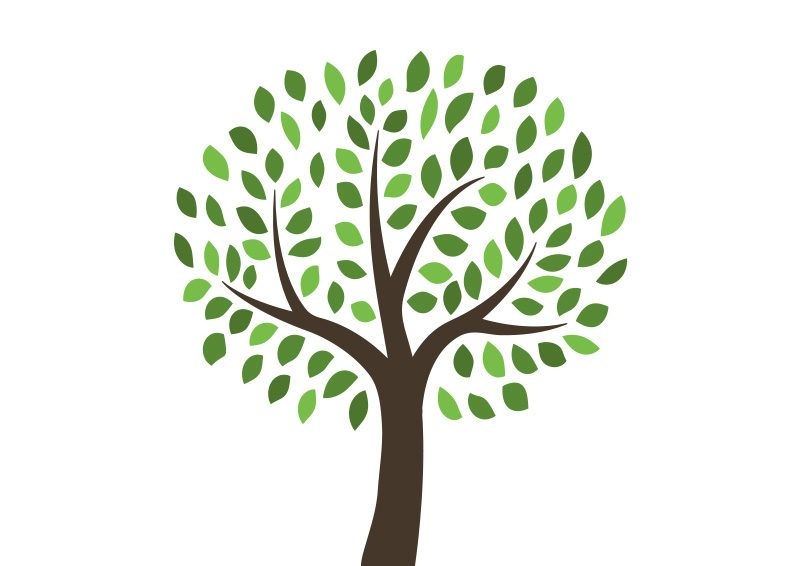 Free Vector Tree Illustration.
