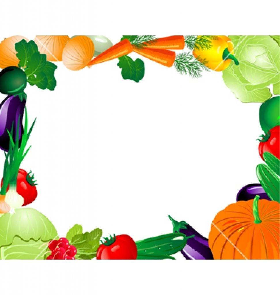 vegetable clip art border free.