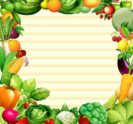 6 831 Vegetable Border Cliparts Stock Vector And Royalty Free.