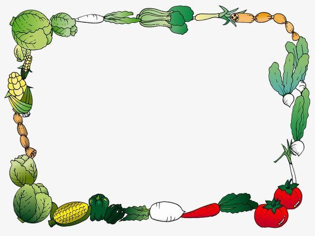 Vegetables Border, Vegetables Clipart, Frame PNG Transparent Image.