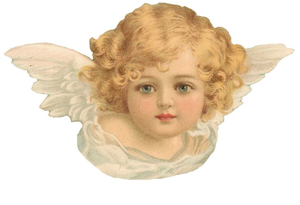 Free Victorian Angel Clipart.