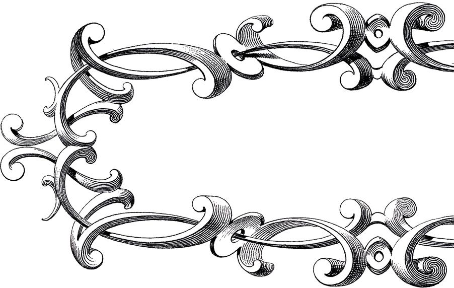 Free Victorian Frame Clip Art.