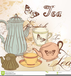 Free Vintage Tea Party Clipart.