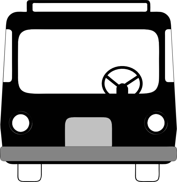 Bus Front View clip art Free Vector / 4Vector.