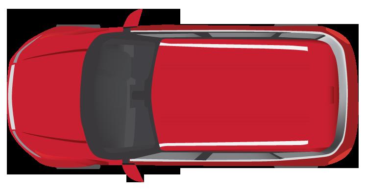 Car Top View Clipart.