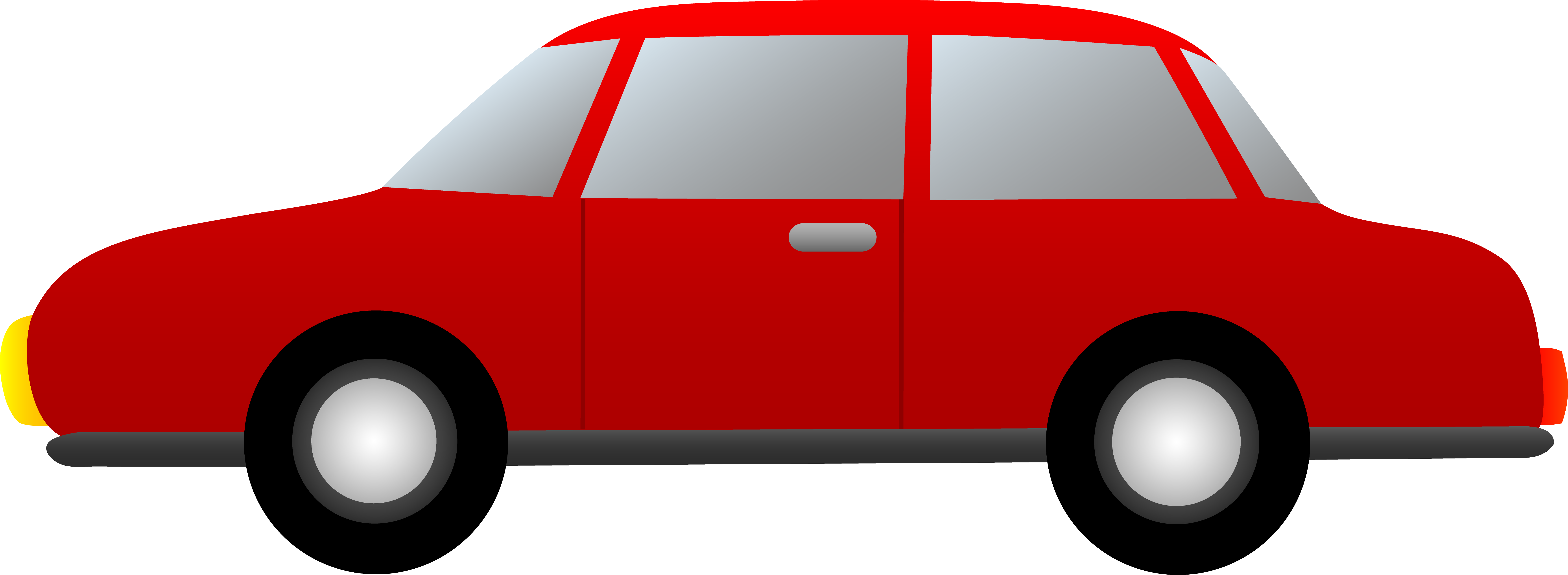 Red Car Side View Clipart.