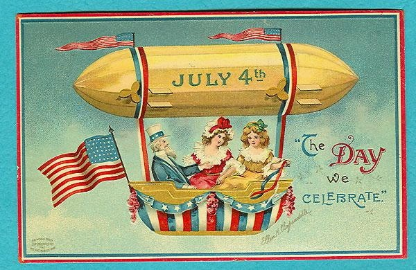 Free 4th of July Vintage Postcards.