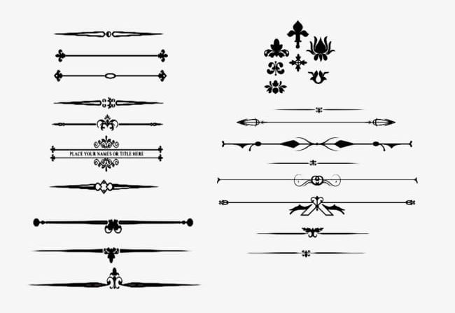 Vintage Small Patterns PNG, Clipart, Arrow, Box, Elements.