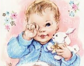 Free Vintage Baby Clipart.