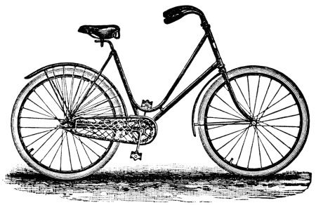 crescent bicycle magazine ad, old fashioned bike image, free.