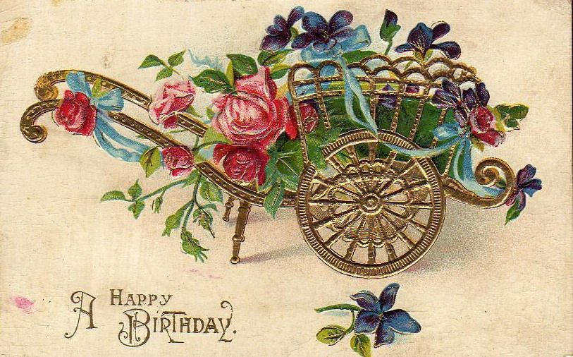 Free Vintage Birthday Card Designs.