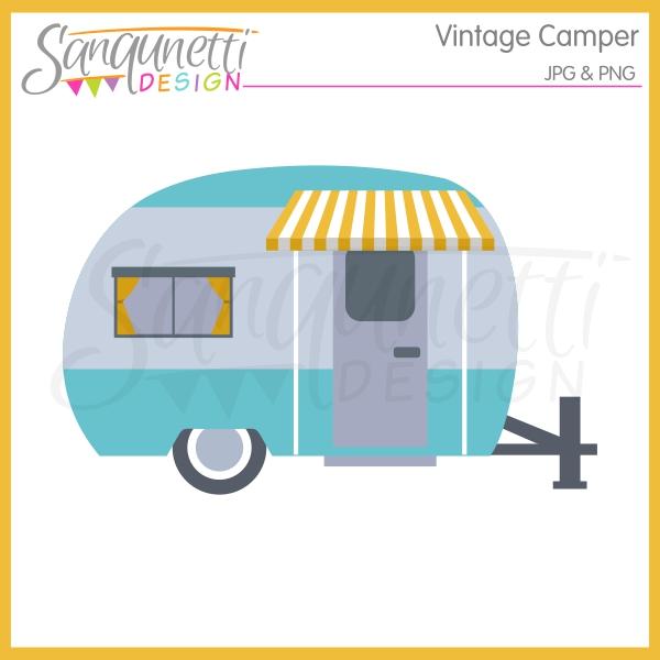 1340 Camper free clipart.