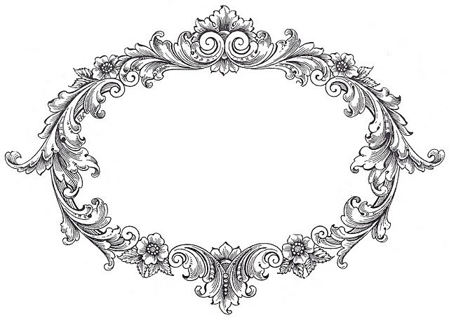 FREE vintage frame Clip Art from The Graphics Fairy.