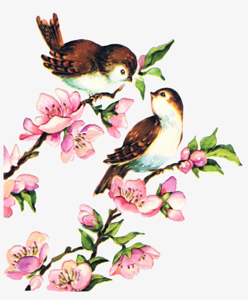 Free Collage Sheet Vintage Birds Fptfy.