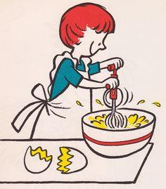 Vintage Cookbook Clipart.