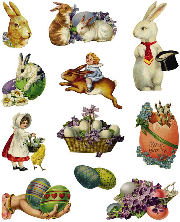 Free Vintage Easter Clip Art N11 free image.