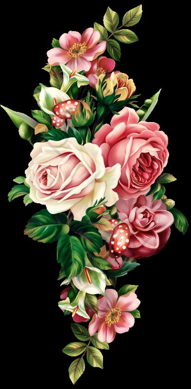 Vintage Floral Botanical Pull Free, Retro, Flowers, Plant PNG.