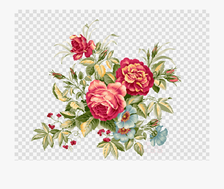 Vintage Floral Png.