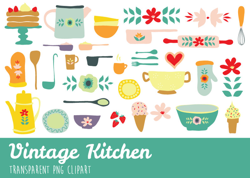 free vintage kitchen clipart clipground Cooking Utensils Clip Art vintage cooking clip art page borders