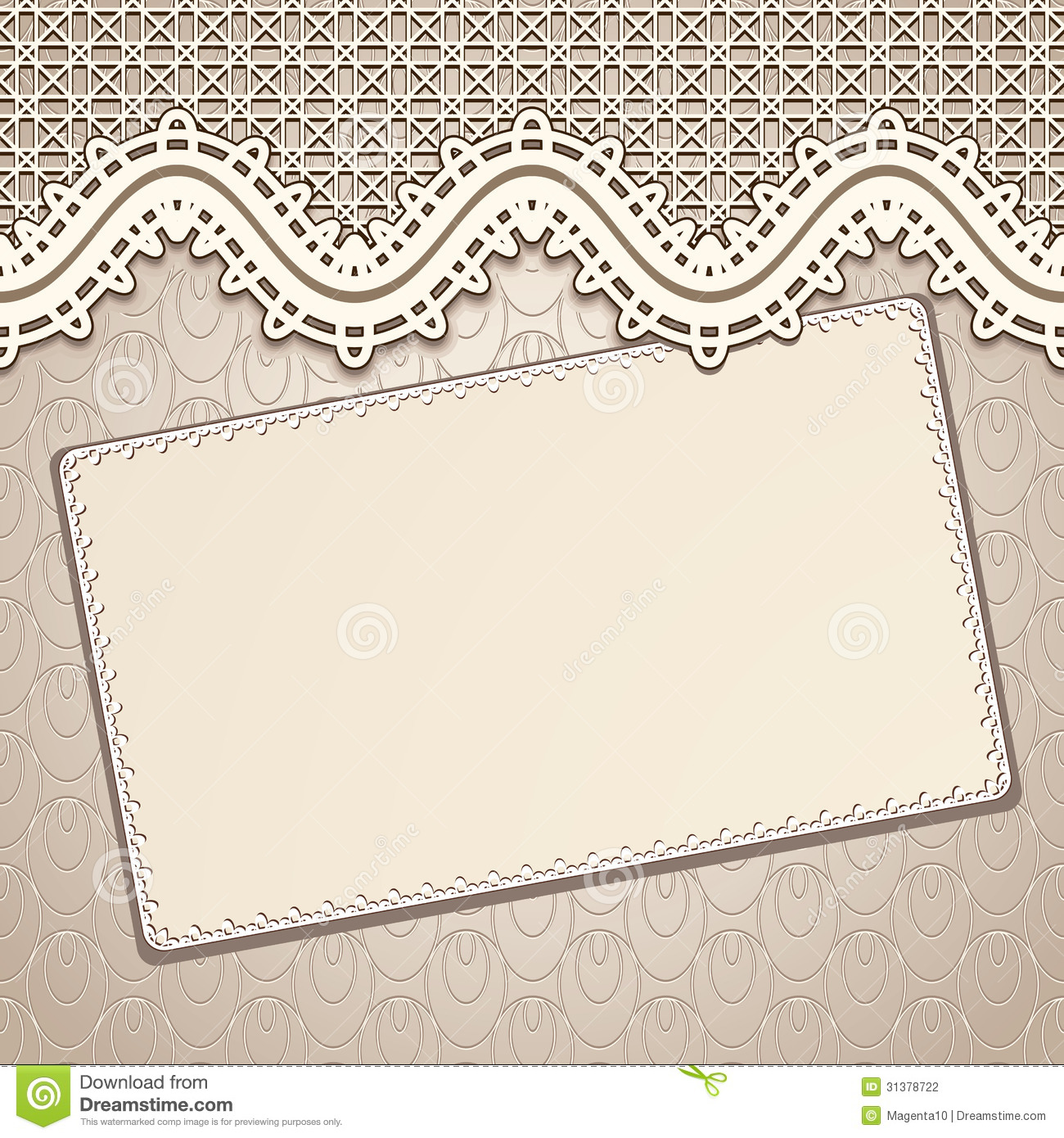 Vintage lace background stock vector. Illustration of cards.