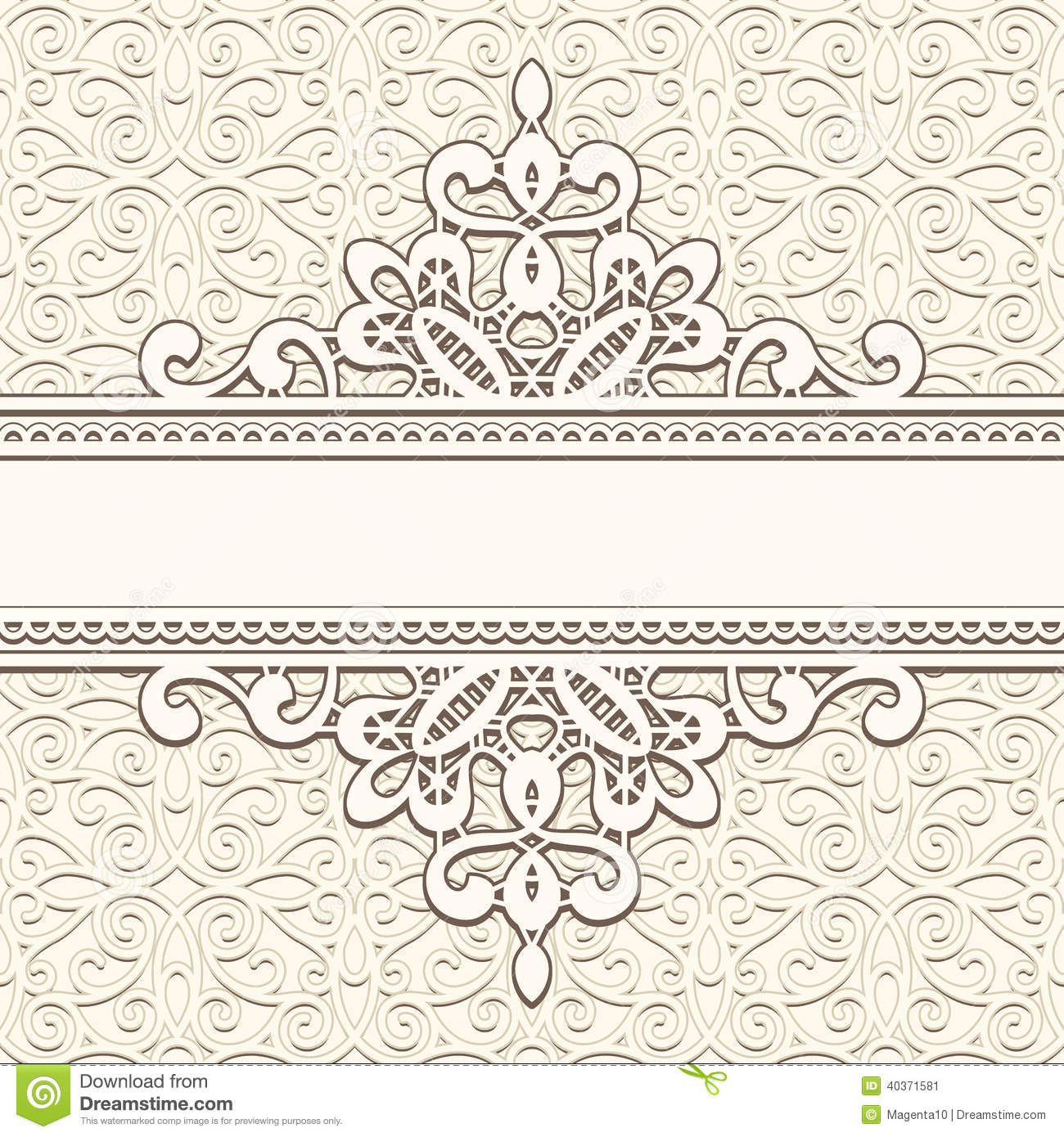 Vintage lace frame stock vector. Illustration of background.