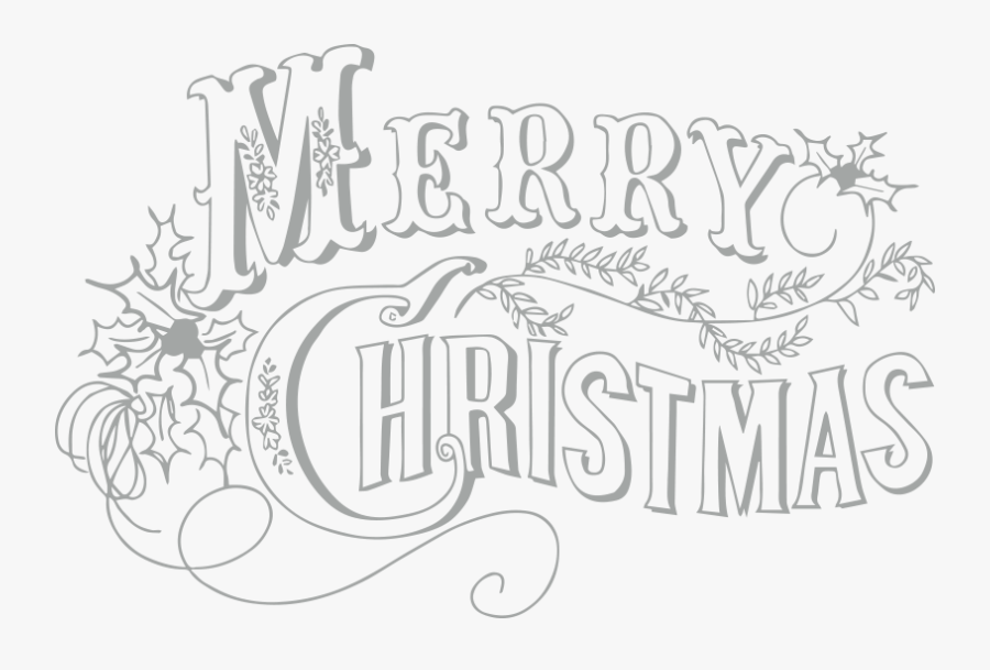 Vintage Merry Christmas , Free Transparent Clipart.