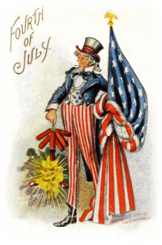 Free Patriotic Vintage July 4th Clip Art.