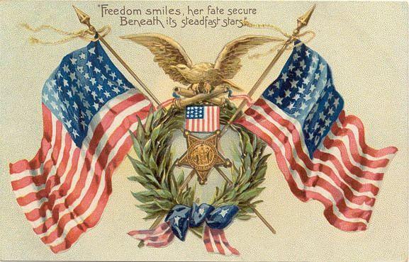 Vintage Patriotic Clip Art.