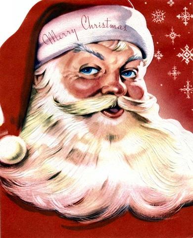 Free Vintage Santa Claus Clipart.