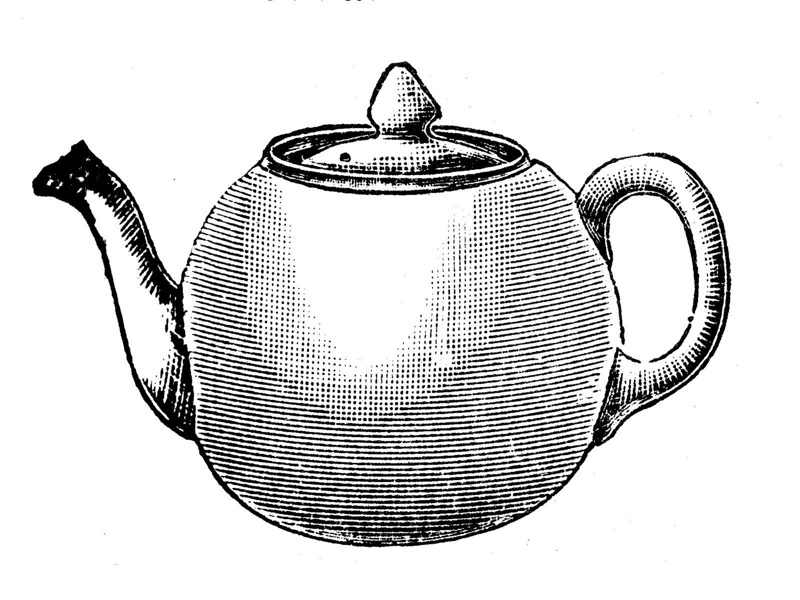 Free vintage clip art images: Vintage tea party crockery.
