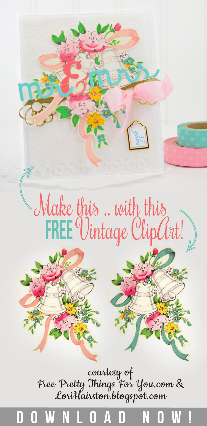 Free Vintage Wedding Bell Clip Art with Lori Hairston!.