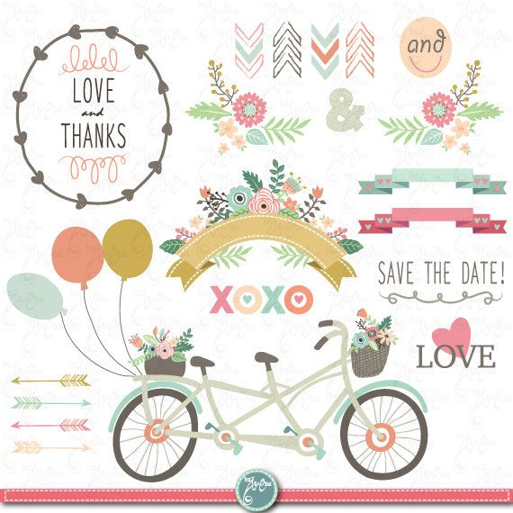 Free Vintage Wedding Clipart.