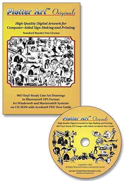 Plotter Art™ Originals, 905 Vinyl Ready Vector Clip Art Images on CD.