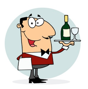 Clipart Of A Waiter.