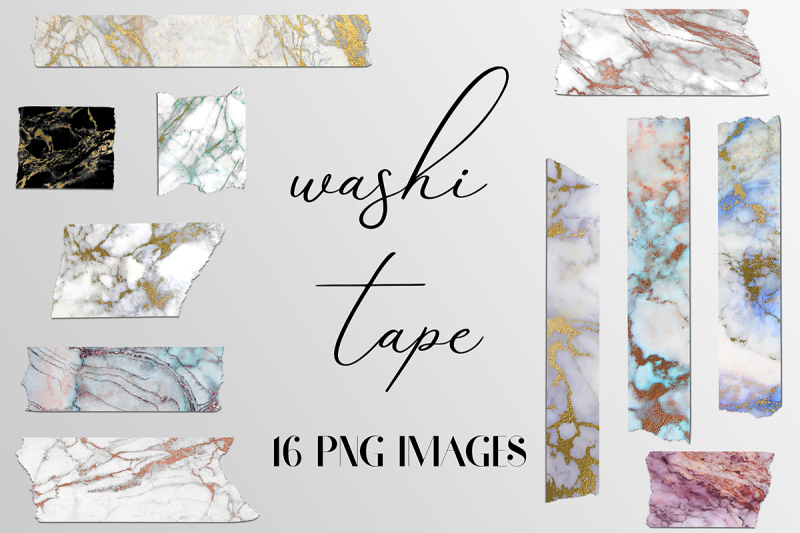 Free Marble Washi Tape Clipart Crafter File.