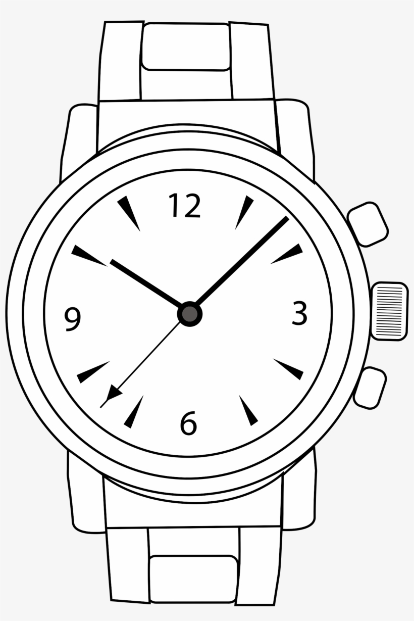 Svg Free Download Watching Clipart Hand Watch.