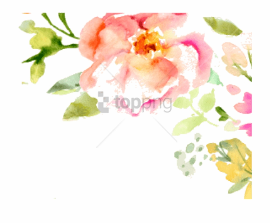 Watercolor Flowers Png Free Watercolor Floral Border Free.