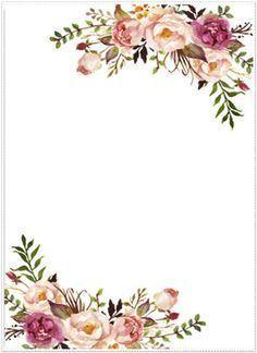 Watercolor Floral Border Paper Printable at GetDrawings.com.