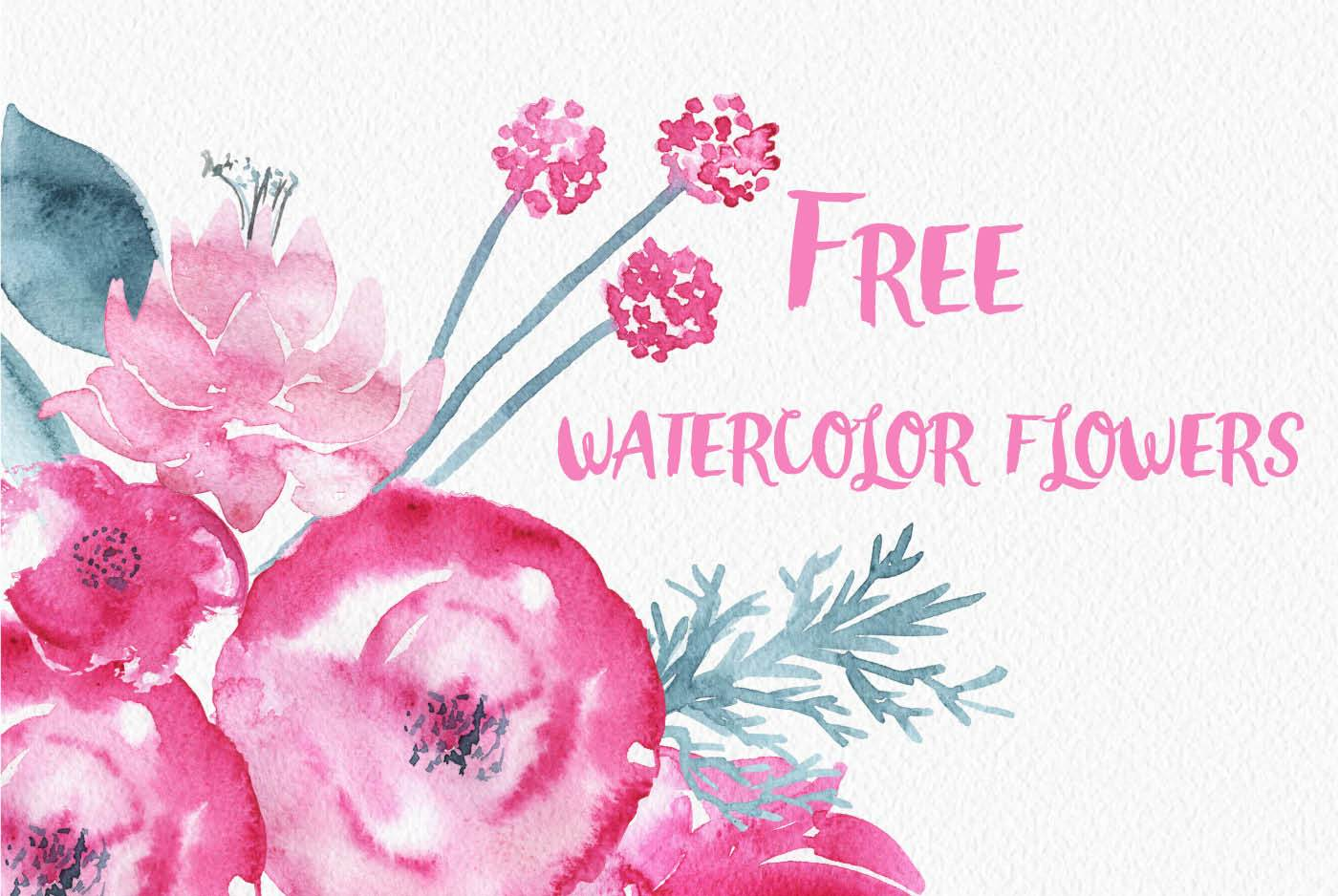 Free watercolor flowers clipart 5 » Clipart Portal.