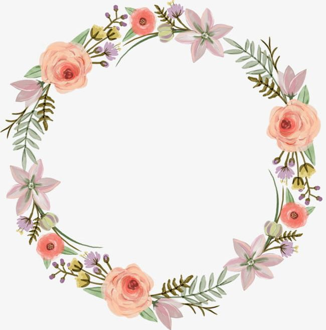 Watercolor Wreaths PNG, Clipart, Cartoon, Decoration, Flowers, Hand.