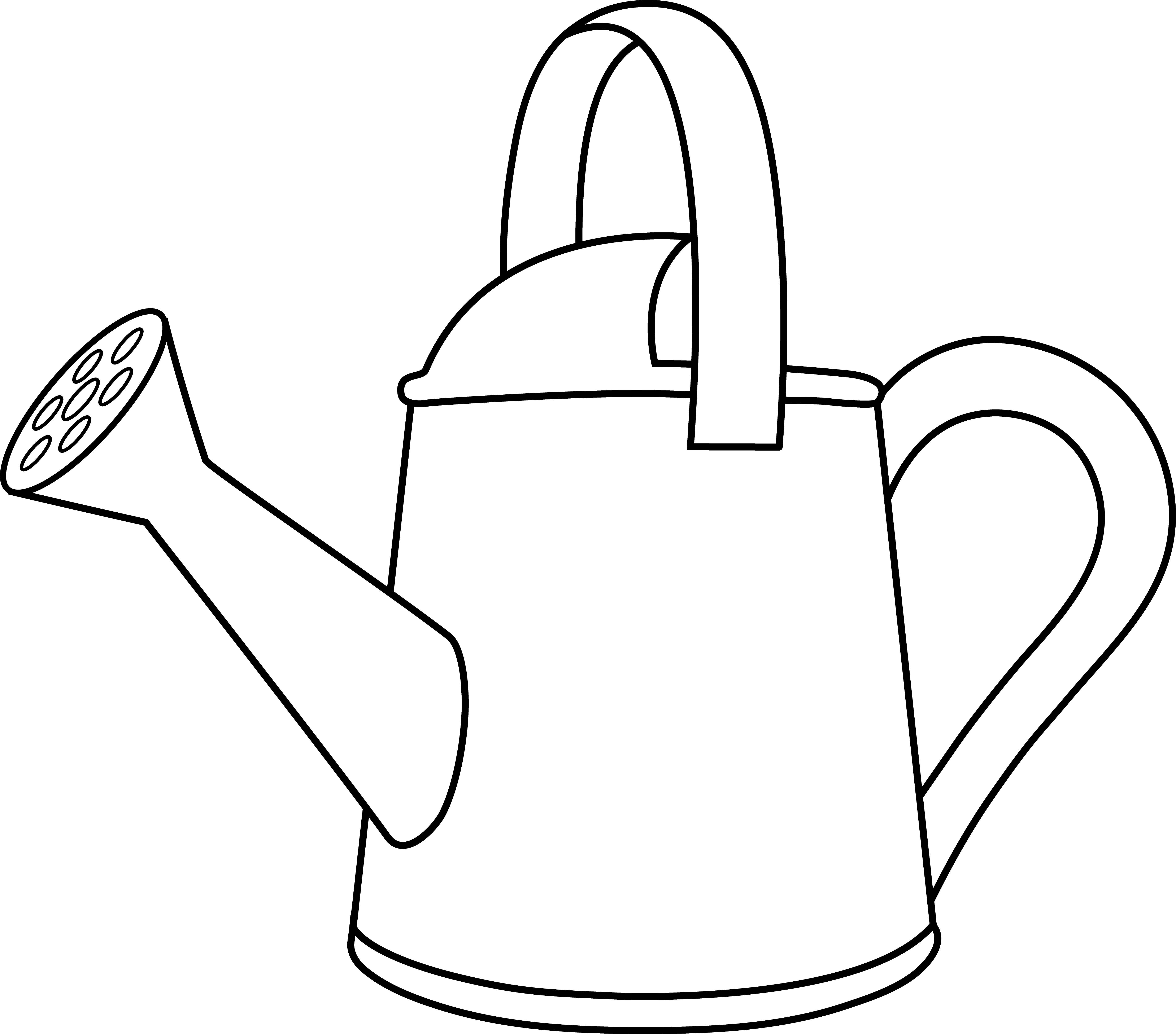 Watering Can Lineart to Color in.